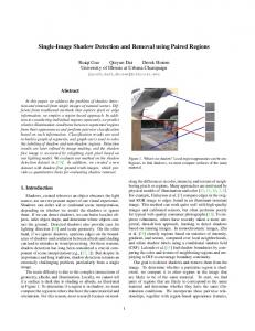 Single-Image Shadow Detection and Removal using Paired Regions