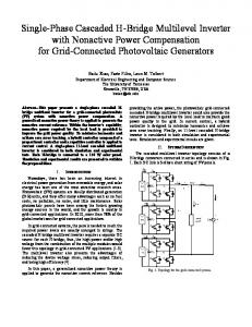 Single-Phase Cascaded H-Bridge Multilevel Inverter with Nonactive Power Compensation for Grid-Connected Photovoltaic Generators