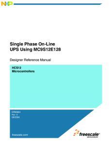 Single Phase On-Line UPS Using MC9S12E128