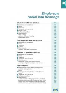 Single-row radial ball bearings