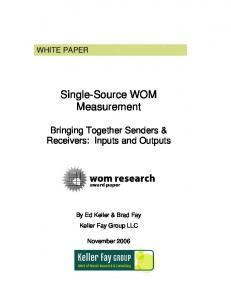 Single-Source WOM Measurement