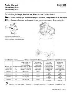Single Stage, Belt Drive, Electric Air Compressor