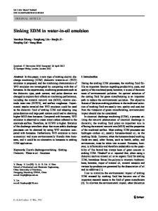Sinking EDM in water-in-oil emulsion