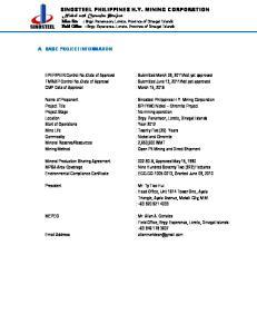 SINOSTEEL PHILIPPINES H.Y. MINING CORPORATION