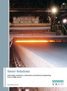 Sinter Solutions. Technology, mechanics, automation and electrical engineering from a single source