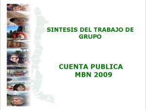 SINTESIS DEL TRABAJO DE GRUPO CUENTA PUBLICA MBN 2009