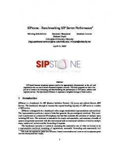 SIPstone - Benchmarking SIP Server Performance