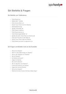 Siri Befehle & Fragen