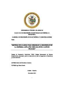 SISTEMA DE ALARMA PARA MEJORAR LA SEGURIDAD DE LA EMPRESA AUPLATEC UBICADA EN EL CANTON PELILEO