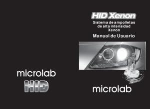 Sistema de ampolletas de alta intensidad Xenon. Manual de Usuario