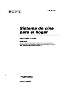 Sistema de cine para el hogar