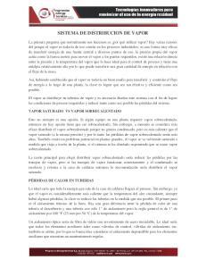 SISTEMA DE DISTRIBUCION DE VAPOR
