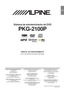 Sistema de entretenimiento de DVD PKG-2100P
