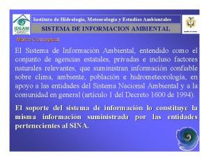 SISTEMA DE INFORMACION AMBIENTAL