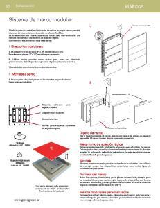 Sistema de marco modular