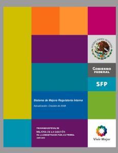 Sistema de Mejora Regulatoria Interna
