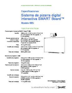 Sistema de pizarra digital interactiva SMART Board