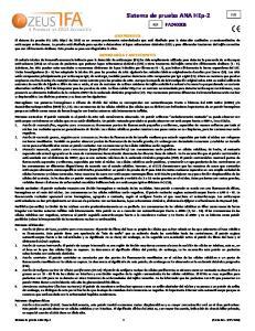 Sistema de prueba ANA HEp-2