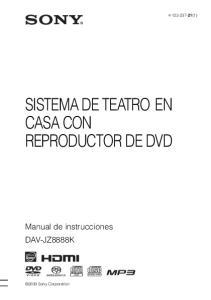 SISTEMA DE TEATRO EN CASA CON REPRODUCTOR DE DVD