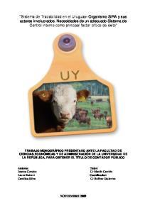 Sistema de Trazabilidad en el Uruguay