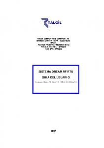 SISTEMA DREAM RF RTU GUIA DEL USUARIO