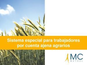 Sistema especial para trabajadores por cuenta ajena agrarios