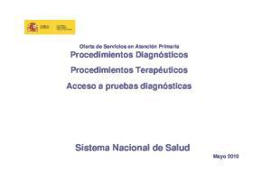 Sistema Nacional de Salud Mayo 2010