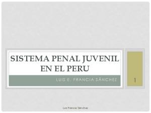 SISTEMA PENAL JUVENIL EN EL PERU
