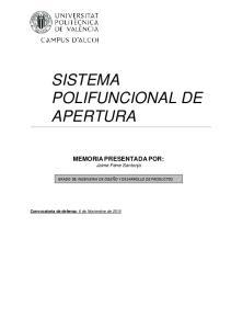 SISTEMA POLIFUNCIONAL DE APERTURA