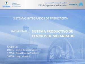 SISTEMA PRODUCTIVO DE CENTROS DE MECANIZADO
