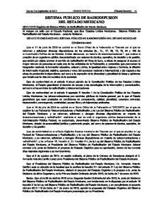 SISTEMA PUBLICO DE RADIODIFUSION DEL ESTADO MEXICANO
