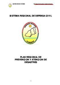 SISTEMA REGIONAL DE DEFENSA CIVIL