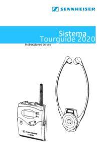 Sistema Tourguide Instrucciones de uso