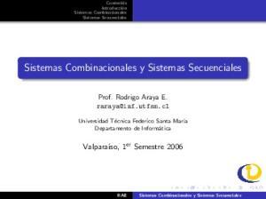 Sistemas Combinacionales y Sistemas Secuenciales