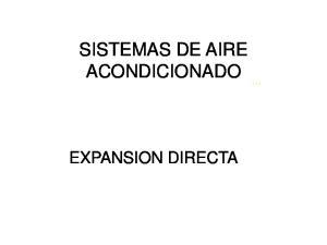 SISTEMAS DE AIRE ACONDICIONADO EXPANSION DIRECTA