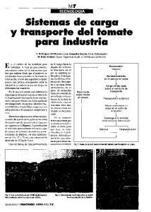 Sistemas de carga y transporte del tomate para industria