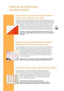 Sistemas de confort para paredes y suelos
