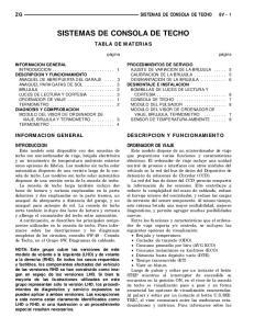 SISTEMAS DE CONSOLA DE TECHO