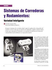 Sistemas de Correderas y Rodamientos: