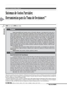 Sistemas de Costos Parciales: Herramientas para la Toma de Decisiones**