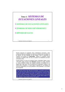 SISTEMAS DE ECUACIONES LINEALES ECUACIONES LINEALES