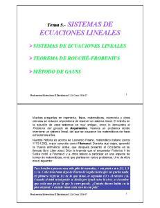 !SISTEMAS DE ECUACIONES LINEALES