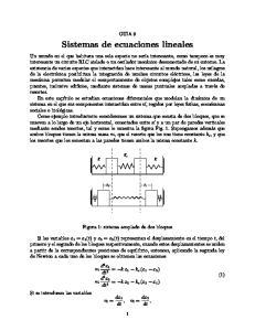 Sistemas de ecuaciones lineales