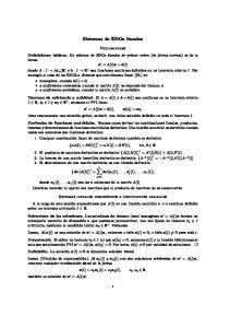 Sistemas de EDOs lineales