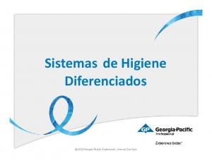 Sistemas de Higiene Diferenciados Georgia-Pacific Professional. Internal Use Only