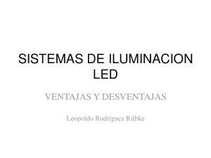 SISTEMAS DE ILUMINACION LED