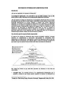 SISTEMAS DE INFORMACION ADMINISTRATIVOS