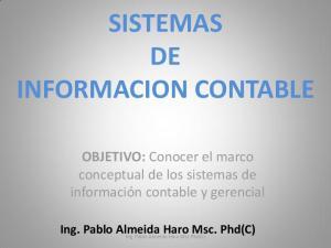 SISTEMAS DE INFORMACION CONTABLE