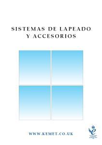 SISTEMAS DE LAPEADO Y ACCESORIOS