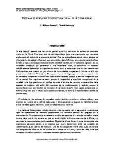 SISTEMAS DE MERCADOS Y ESTRUCTURA SOCIAL EN LA CHINA RURAL
